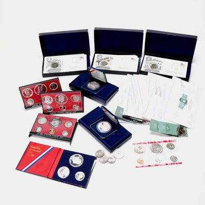 United States Proof Sets, Commemorative Silver Dollars, and More