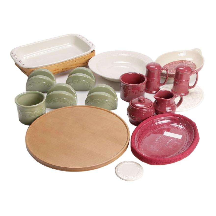 "Longaberger ""Woven Traditions"" Earthenware Serveware"