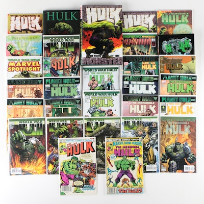 The Incredible Hulk Comic Book Grouping Including Rocket Raccoon Issue #271