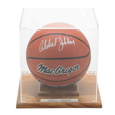 "Kareem Abdul Jabbar Signed MacGregor ""Collegiate"" Basketball with Case"