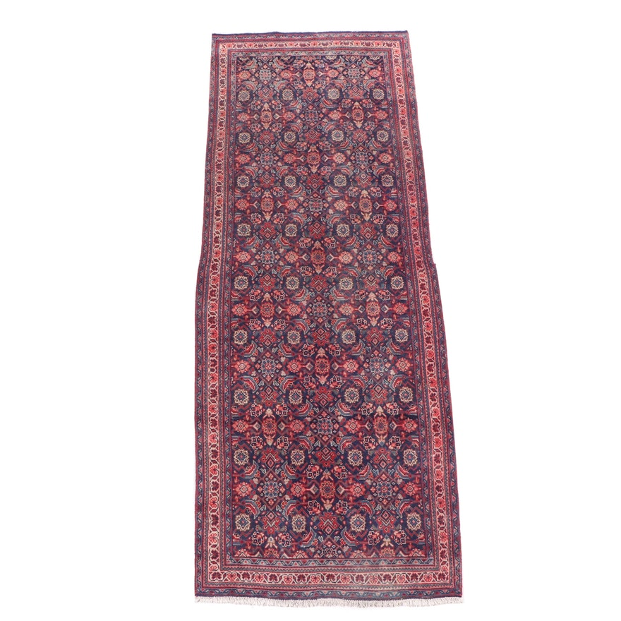 Hand-Knotted Persian Herati Wool Long Rug
