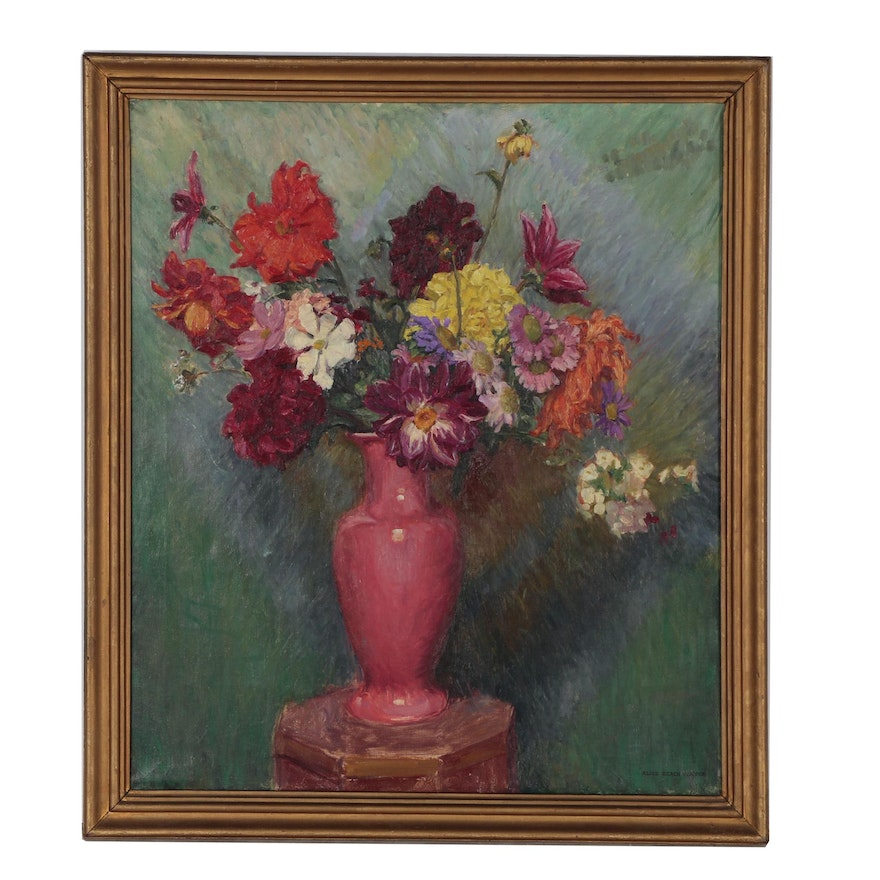 Alice Beach Winter Floral Still Life Oil Painting
