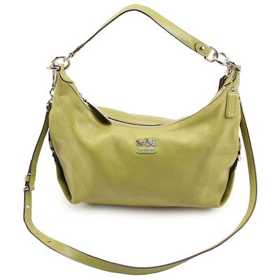 Coach Madison Hailey Convertible Hobo Bag in Chartreuse Green Leather