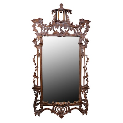 Ornate Carved Rococo-Style Wall Mirror, Early 20th Century