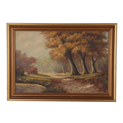 Louis van Veen Landscape Oil Painting