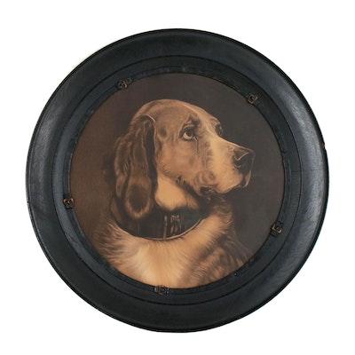 Chromolithograph Dog Portrait, Late 19th Century