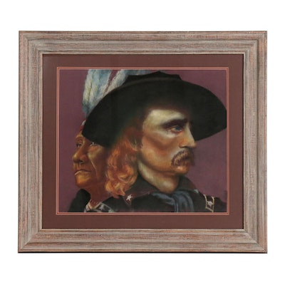 Pastel Drawing of General Custer, Late 20th Century