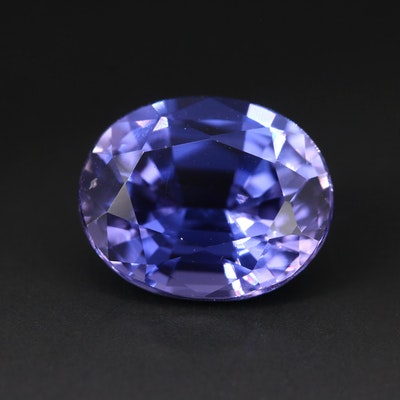 Loose 6.80 CT Oval Faceted Sapphire Gemstone