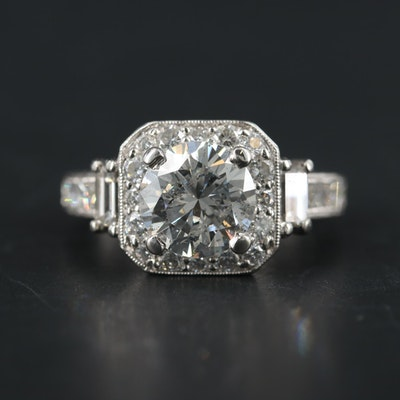 Platinum 3.75 CTW Diamond Ring