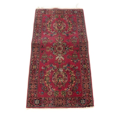 2'2 x 4'6 Hand-Knotted Persian Lilihan Wool Rug
