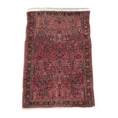 3'2 x 5'1 Hand-Knotted Persian Sarouk Wool Rug
