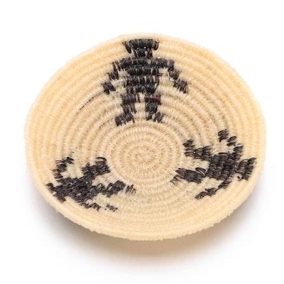"Lucy Jackson Pima Tribe ""Day"" Horse Hair Basket, 1950"