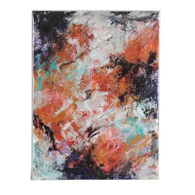 """Sanna Abstract Acrylic Painting """"Balancing Act"""""""
