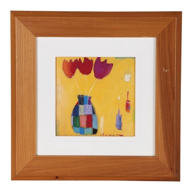 """Offset Lithograph after Emma Davis """"Giant Tulips"""""""