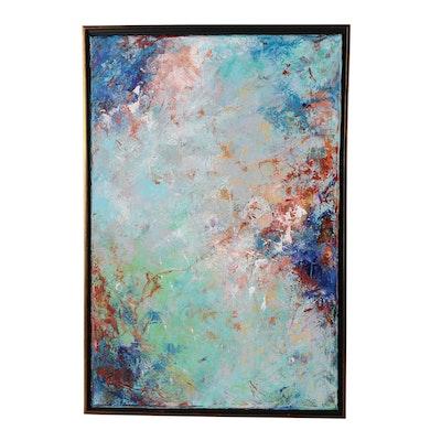 "Sanna Abstract Acrylic Painting ""Sweet Breeze"", 2019"