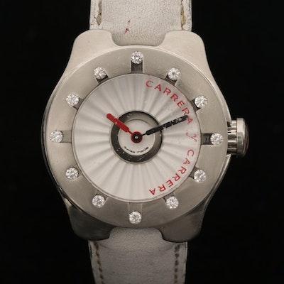 Carrera Y Carrera Avalon Stainless Steel and Diamond Bezel Quartz Wristwatch