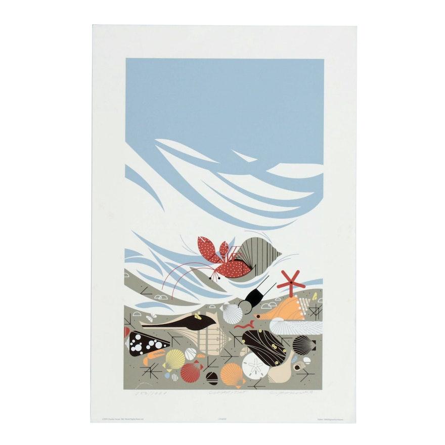 """Charley Harper Serigraph """"Crabitat"""""""