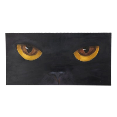 Acrylic Painting of Cat Eyes