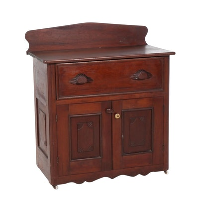 Late Victorian Cherry Side Cabinet, Late 19th/Early 20th Century