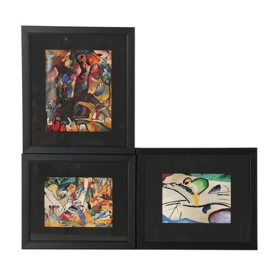 Abstract Offset Lithograph Prints after Wassily Kandinsky