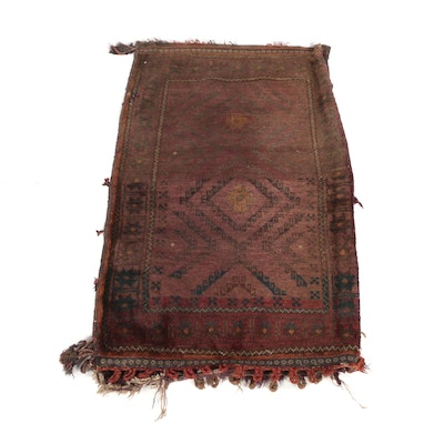 2'3 x 3'10 Hand-Knotted Afghani Belouch Wool Storage Bag