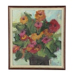 Ann Kromer Floral Still Life Oil Painting