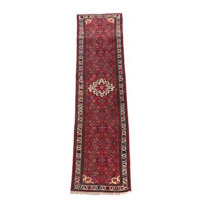2'6 x 9'5 Hand-Knotted Persian Herati Wool Carpet Runner