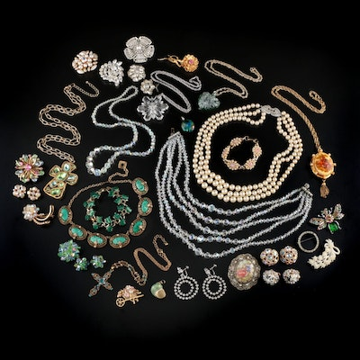 Assorted Jewelry Including Weiss, Marvella and Vendome