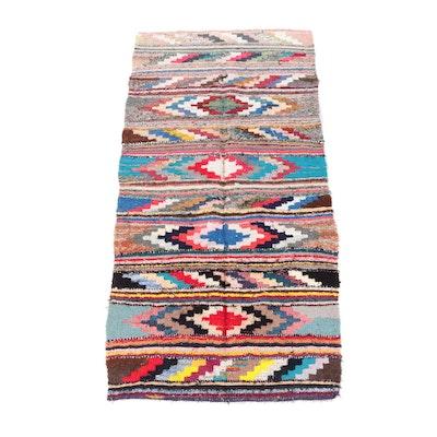 4'9 x 9'7 Handwoven Kilim Wool Rug