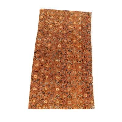 Hand-Knotted Persian Varamin Wool Rug