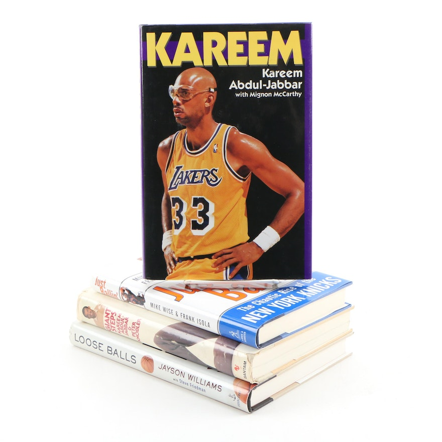 """Kareem"" With Additional NBA Books featuring First Editions"