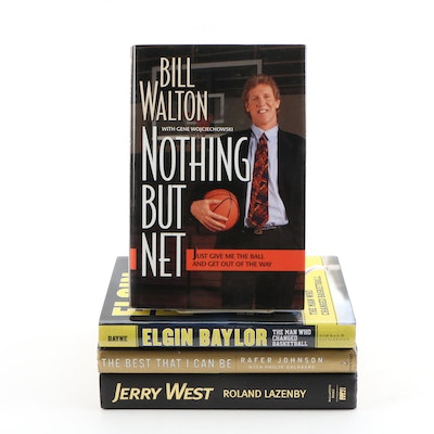 Biographies of Basketball Players featuring Walton, West, Baylor and Johnson