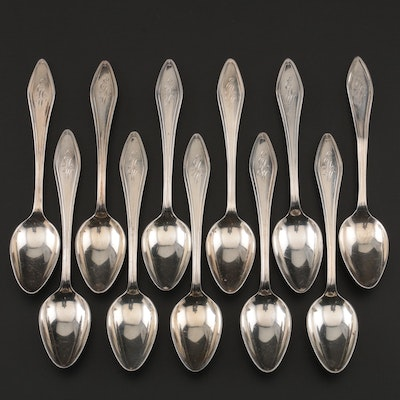 """Towle """"Mary Chilton"""" Sterling Demitasse Spoons, 1920s"""