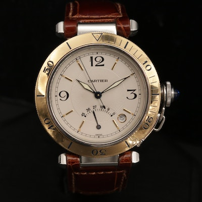 Cartier Pasha Power Reserve 18K Gold and Stainless Steel Automatic Wristwatch