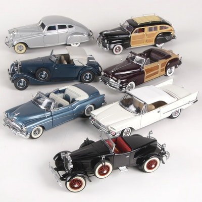 Danbury Mint Diecast Model Cars Including Town & Country Woodies