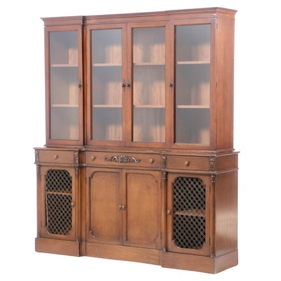 Leonardo Furniture Co., French Provincial Style Walnut-Stained Display Cabinet