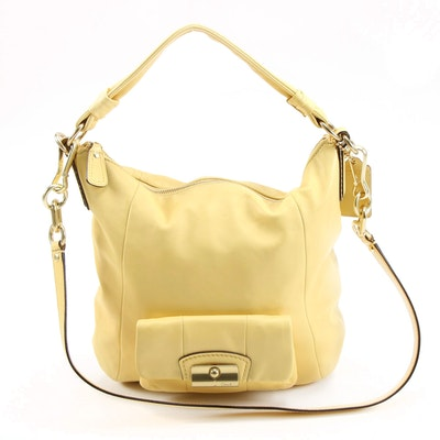 Coach Kristin Convertible Hobo Bag in Yellow Leather