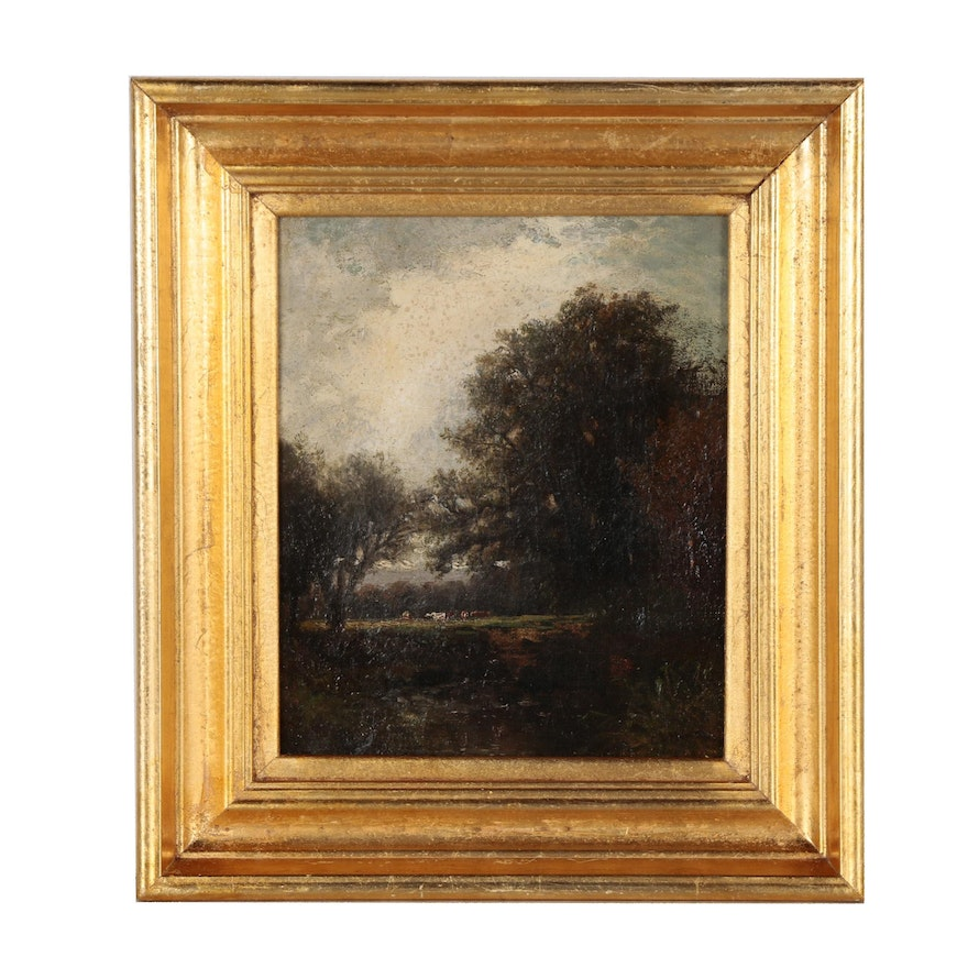 Charles Day Hunt Landscape Oil Painting, Late 19th Century
