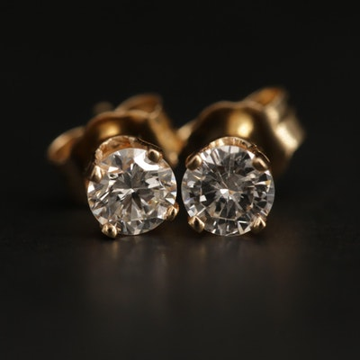 14K Yellow Gold 0.43 CTW Diamond Stud Earrings