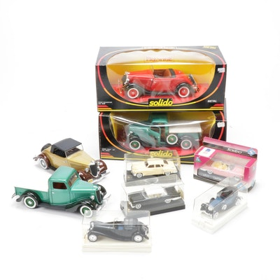 """Solido 1934 Ford """"Roadster"""" and Other Diecast Vehicle Models"""