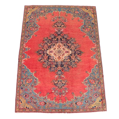 5'6 x 7'11 Hand-Knotted Persian Kashan Wool Rug