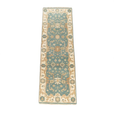 2'5 x 7'11 Hand-Knotted Persian Mahal Wool Carpet Runner