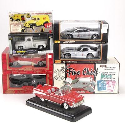 Xonex, MotorMax, First Gear, Mira and Maisto Diecast Model Vehicles