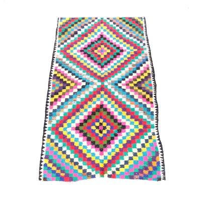 5'3 x 9'7 Handwoven Persian Soumak Wool Rug