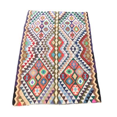6'1 x 9'9 Handwoven Persian Kilim Wool Rug