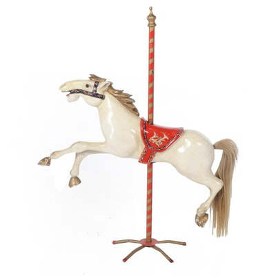 Large Carousel Horse on Stand