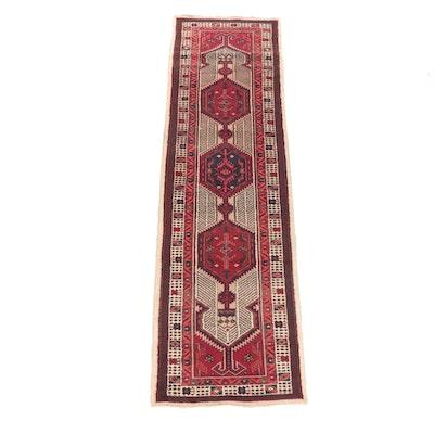3'2 x 11'1 Hand-Knotted Persian Khamseh Wool Carpet Runner