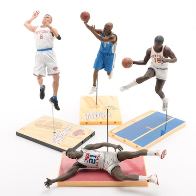 Wilkins, Billups, Monroe and Porzingis Action Figures