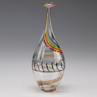 "Darren Goodman 2016 Hand Blown Glass ""Vetrobottle"""