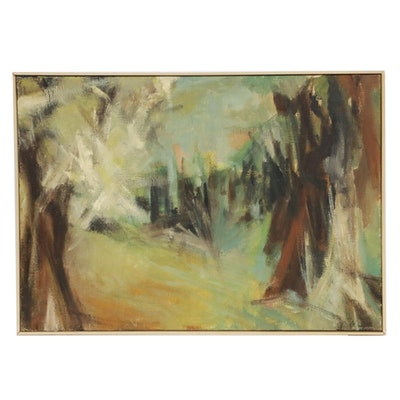 Richard Wachter Abstract Oil Painting, Mid to Late 20th Century